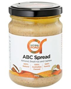 Almond, Brazil & Cashew Spread 240gm By Natural Road