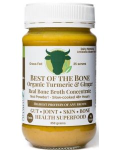 Broth Concentrate w Org Turmeric Ginger Black Pepper 375g By Best of Bone