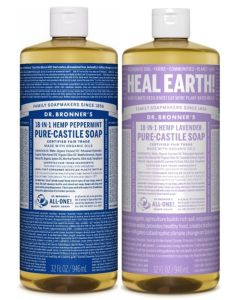 Dr Bronner's Pure Castile Liquid Soap 946ml Twin pack