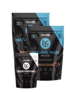 NATURAL MASS 2kg (2x1kg bags) By Prana and Creatine